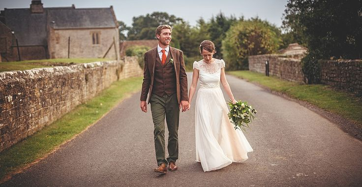 The radiant Emily chose to wear a bespoke 'Alessandra' dress for her special wedding day in Somerset this September.