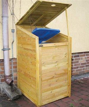 Tuin wooden bin store for a single wheelie bin
