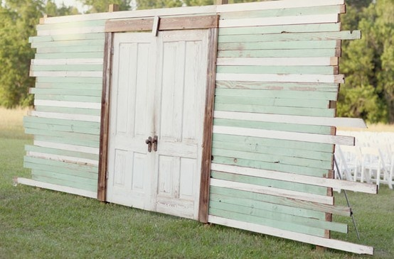 outdoor wedding doors