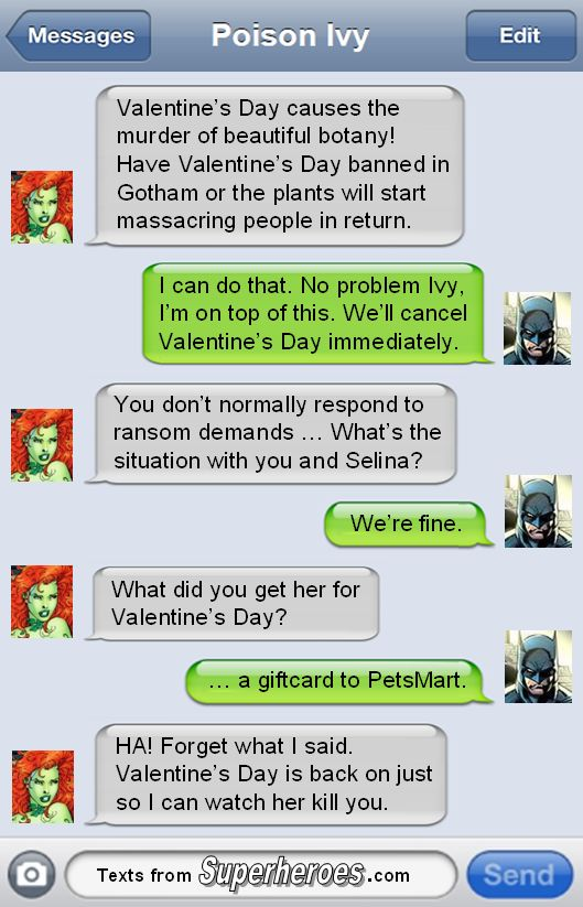 Batman vs Valentines Day
