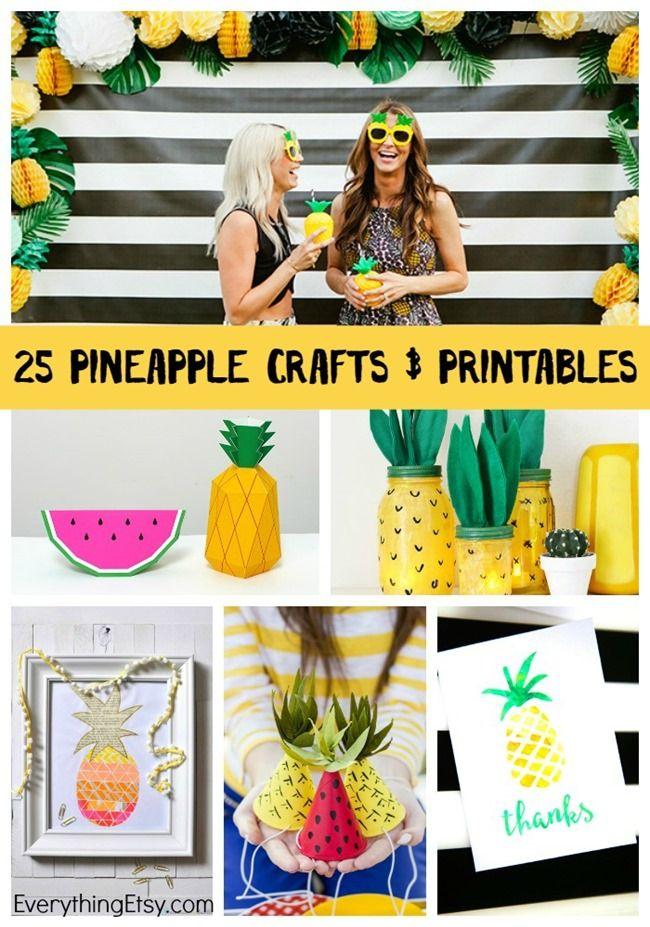 25 Pineapple Crafts & Free Printables {DIY Goodness}
