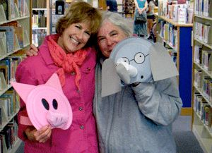 Elephant and Piggie - Halloween costume with a teaching partner!