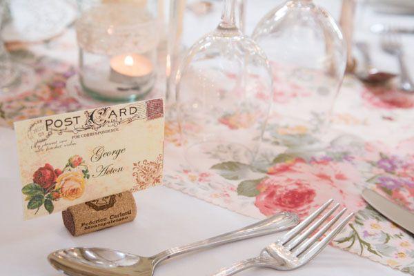 vintage postcard wedding