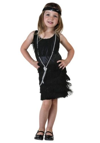 Toddler Black Flapper Dress...this would be cute on the girls!