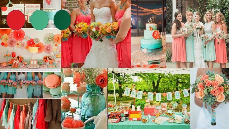 perzik koraal thema bruiloft - Google zoeken
