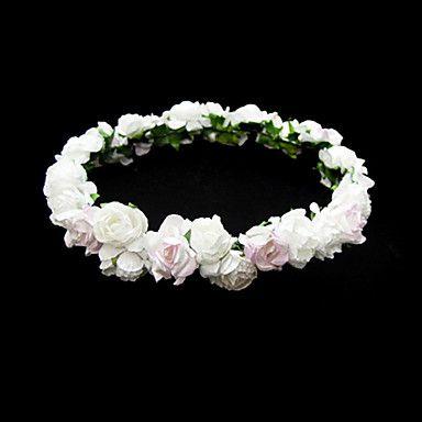 Lovely Paper Flower Wedding Flower Girl Wreath – USD $ 3.99