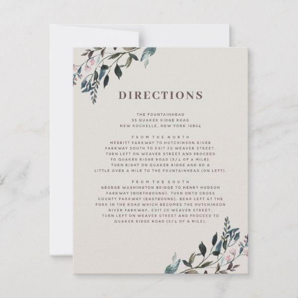 Garden Crest Eggshell Wedding Directions Info Rsvp Card Zazzle Com Wedding Directions Rsvp Card Crest Wedding Invitations
