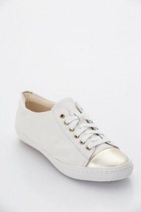 Fehér/Arany Montonelli Női Utcai cipő