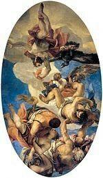 Giove che fulmina i vizi.  1554-1556. Sala del Consiglio dei Dieci