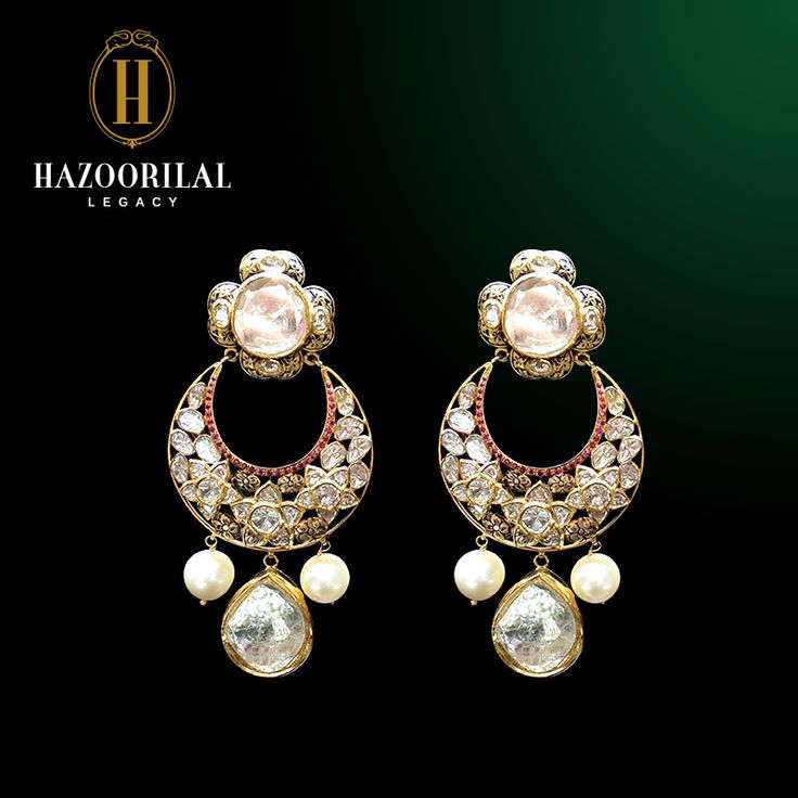 Crescents of perfection: #Chandbalas made with rare #Pearls and #Polki…