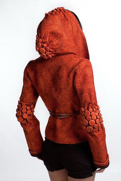 Veste orange veste fashion vêtements feutrés par DianaNagorna