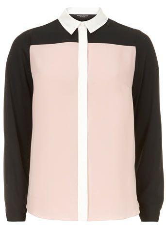 Blush colourblock shirt - Dorothy Perkins.com