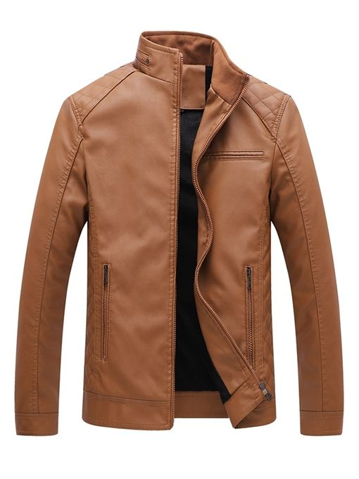 Ericdress Lapel Plain Thick Small Size Men's Coat Jacket