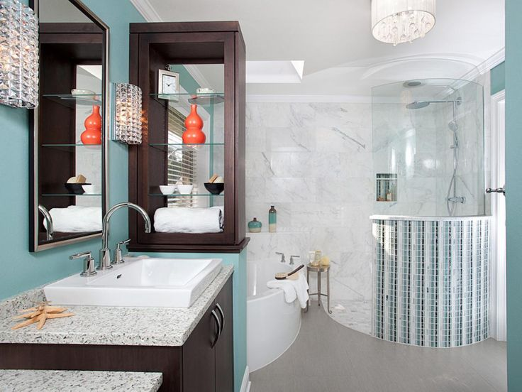 Rounded walk in shower 99 stylish bathroom design ideas youll love on hgtv