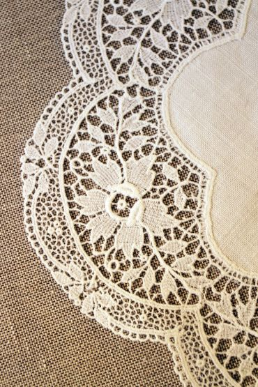 Vintage lace doily Mrs Baths Drawers