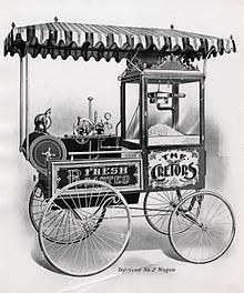 """Although small quantities can be popped in a stove-top kettle, or pot in a home kitchen, commercial sale of freshly popped popcorn employs specially designed popcorn machines, which were invented in Chicago, Illinois, by Charles Cretors in 1885. Cretors successfully introduced his invention at the Columbian Exposition in 1893. At this same world's fair, F.W. Rueckheim introduced a molasses-flavored """"Candied Popcorn"""", the first caramel corn; his brother, Louis, slightly altered the recipe…"""