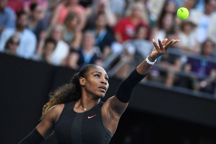 Serena Williams, pictured in January 2017, said in a recent interview with Vanity Fair that her pregnancy came as a complete surprise, and that she plans on returning to tennis after her baby is born