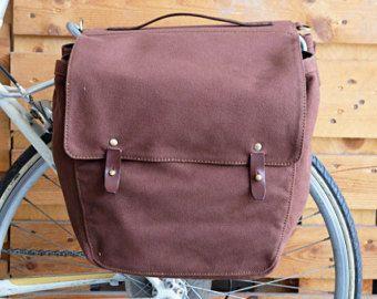 Rifecycle fiets Pannier Roll-Up tassen op Rear Rack Canvas markt zak Touring BR