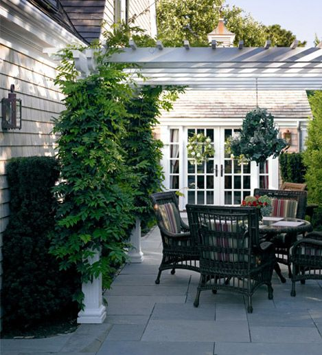 something like this for the patio??? including the pavers ---- Fuller Street Cape - Ahearn Architecture Patio idea