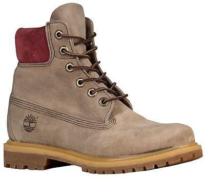 """Timberland 6"""" Premium Waterproof Boots Women's Medium Grey Nubuck 1973753"""