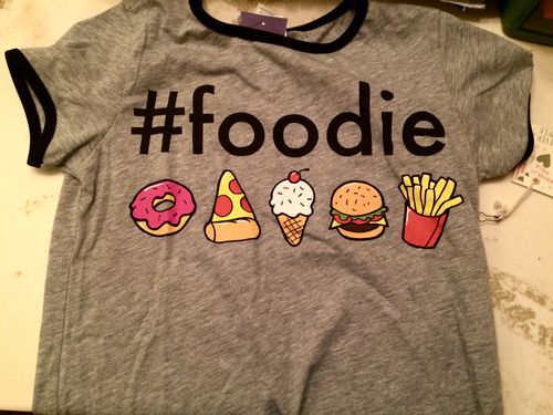 forever 21 and foodie graphic tee image