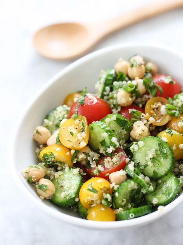 Quinoa Tabbouleh with Chickpeas foodiecrush.com