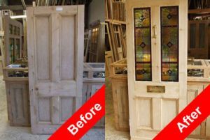 How to transform a Victorian internal solid panel door into a Victorian Stained Glass front door