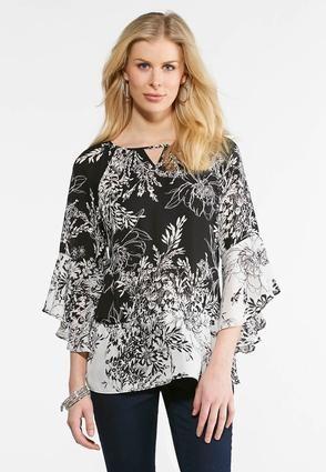 646abf15b99 Cato Fashions Plus Size Ruffle Sleeve Floral Print Top  CatoFashions ...