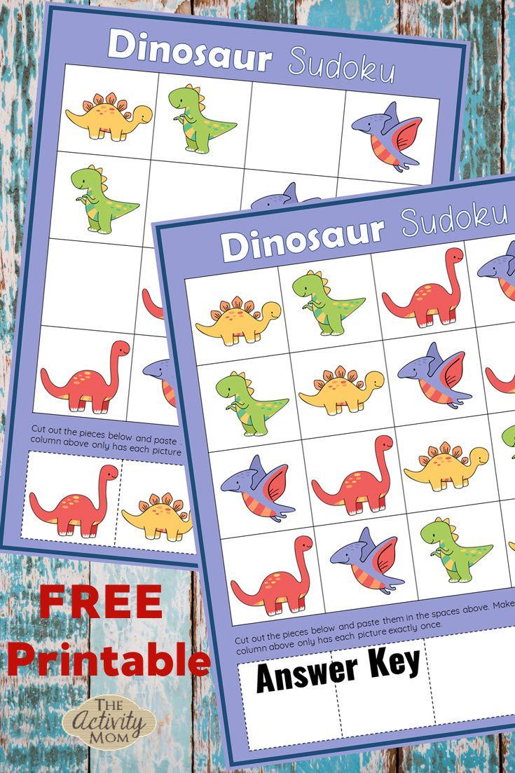 Dinosaur Sudoku Puzzles For Kids The Activity Mom Printable Activities For Kids Puzzles For Kids Dinosaur Activities [ 1103 x 735 Pixel ]