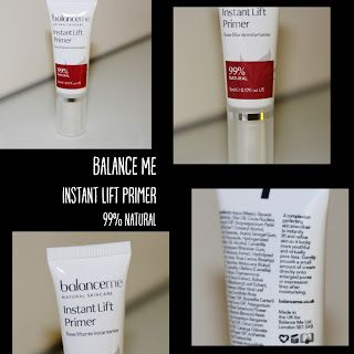MichelaIsMyName: Balance Me Instant Lift Primer 99% Natural REVIEW