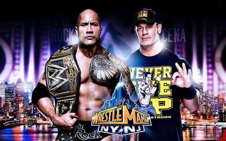 The Rock and John Cena Wrestler Mania HD Wallpaper