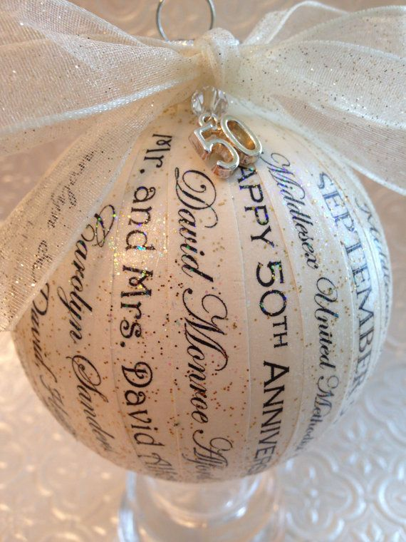 Creative Wedding Anniversary Ideas For Parents : by Kelly anniversary ornaments are a unique, elegant and creative ...