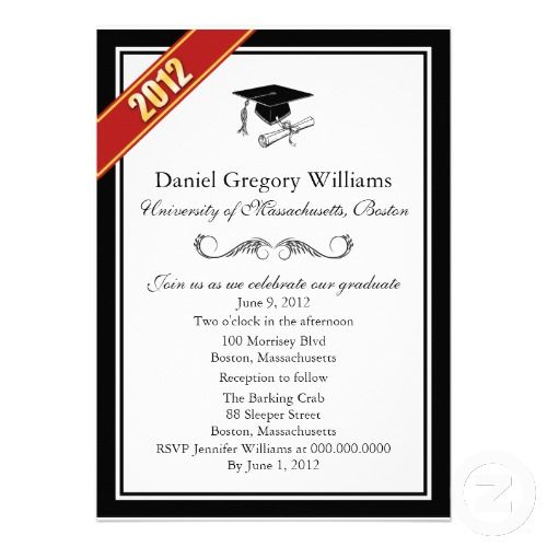 18 best Graduation invitation templates images on