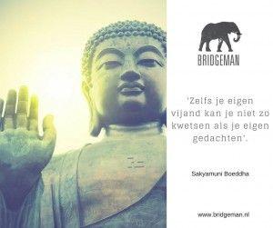 Zelfs je eigen vijand kan je niet zo kwetsen als je eigen gedachten'. Woorden die aan de Boeddha worden toegeschreven. Blog door Robert Bridgeman