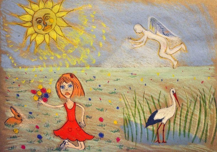 """,,Jedno skrzydło"""" Robert Karwat-ilustracja Agata W-B"""
