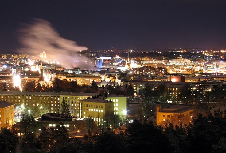 Night time at #Tampere, #Finland.