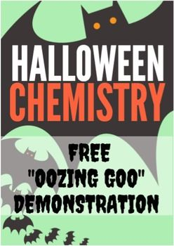 """Also known as """"elephant toothpaste,"""" this demonstration is popular in EVERY science classroom!  Students watch as a bottle of harmless-looking liquid begins to bubble and overflow out of control with a simple catalyst.This demonstration is part of """"Halloween Chemistry: 6 OOZING, BUBBLING, FIERY Science Demonstrations""""Originally designed as a high school demonstration, this is safe and easy enough to be used in middle school, or even elementary school."""