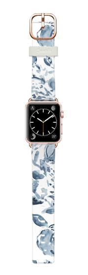 Casetify Apple Watch Band (38mm) Casetify Band - Blue & White by Pineapple Bay Studio #Casetify