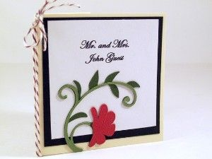 Wedding Place Card Custom Mini Book