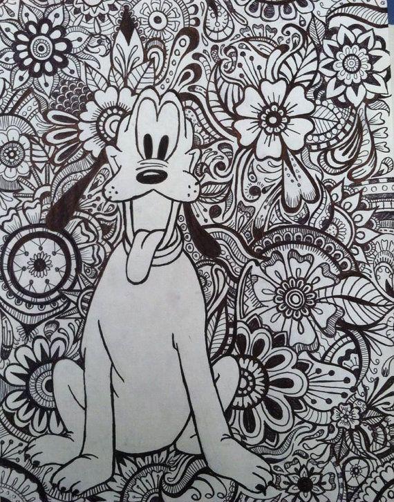 Pluto Floral Design by byjamierose on Etsy