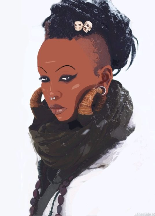 Found on blkwomenart comBlack Women Afro Art