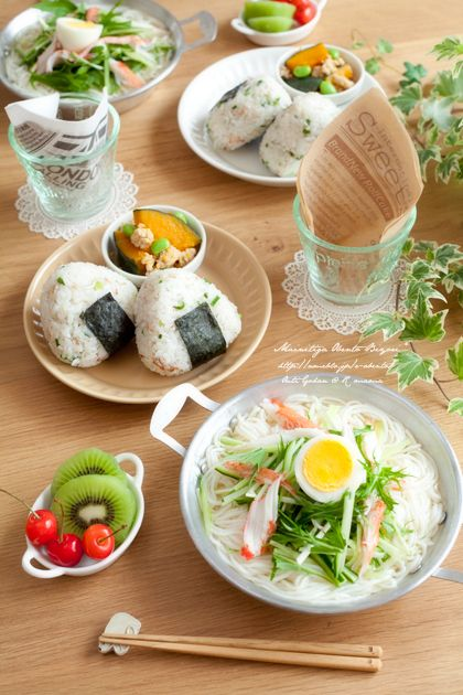 """House rice ★ Korean-style cold noodle without kimchi! 