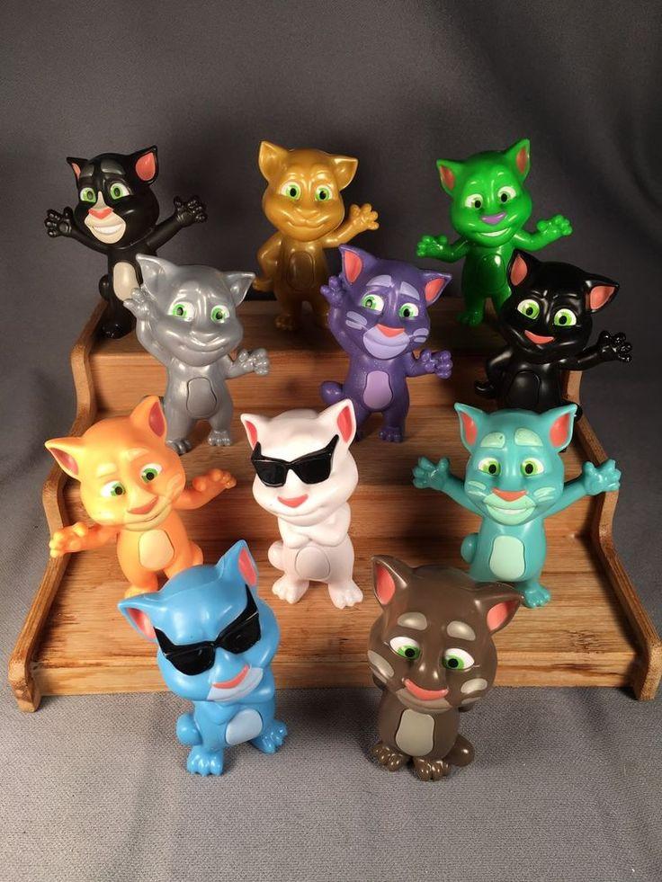 Talking Tom Cat Mcdonald S Happy Meal Toys Lot Of 11 Mcdonalds
