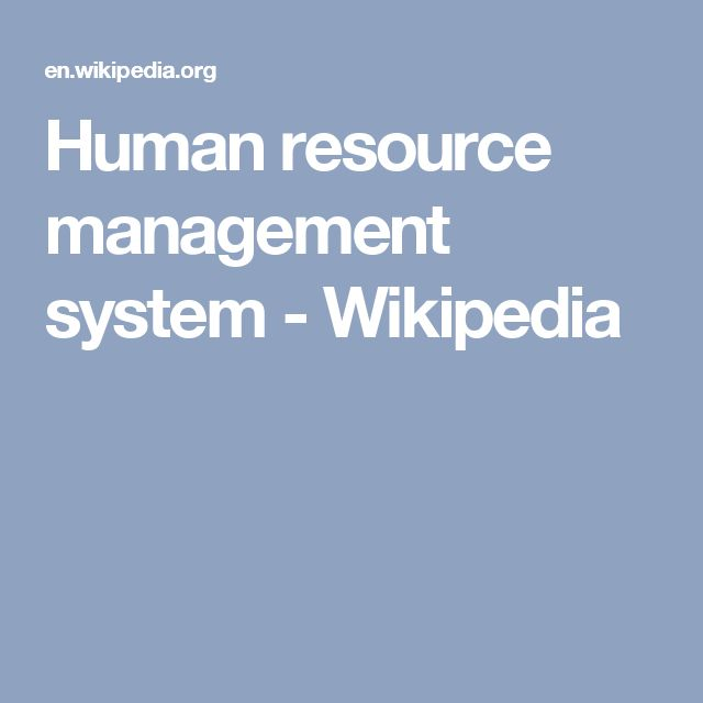 Human resource management system - Wikipedia