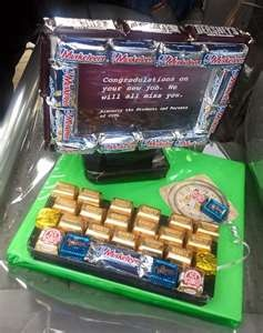 """Homemade Fathers Day Gifts - A """"Computer"""" Candy Arrangement"""