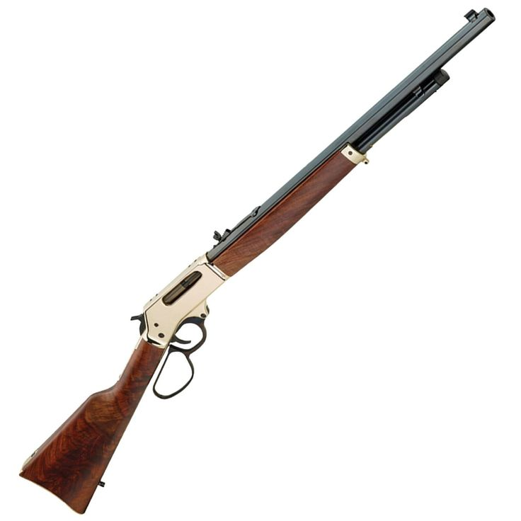 "Henry Brass Lever Action Rifle 45-70 Govt 22"" Octago..."
