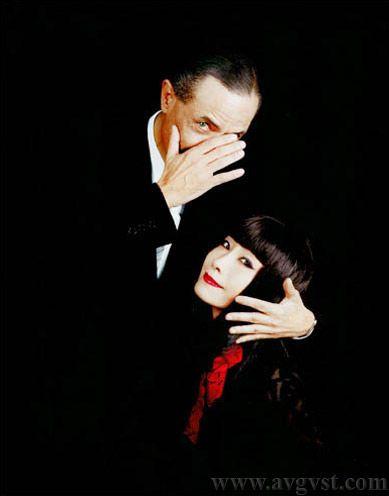 Serge Lutens and model Sayoko Yamaguchi - Shimomura Kazuyoshi photographer Paris Tokyo A V G V S T