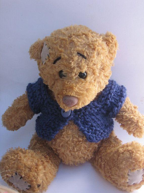 Teddy sweater nutka_art handmade doll bear clothes by nutkaart