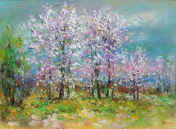 Spring Paintings By Famous Artists Spring Landscape Spring Painting Oil Painting Landscape