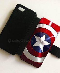 Captain America avenger SHIELD wallet case,Wallet Phone Case Iphone 6 Plus, WalletiPhone cases, Wallet samsung cases